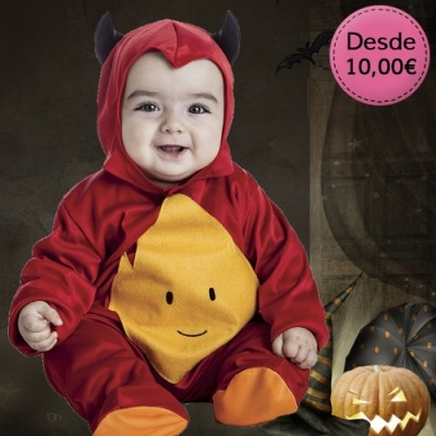 Little devil, vampire and witch costumes for babies