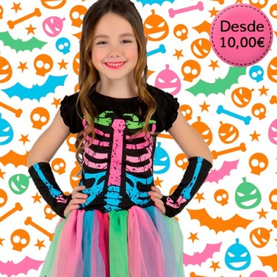 Zombie, skeleton and evil creature costumes for girls