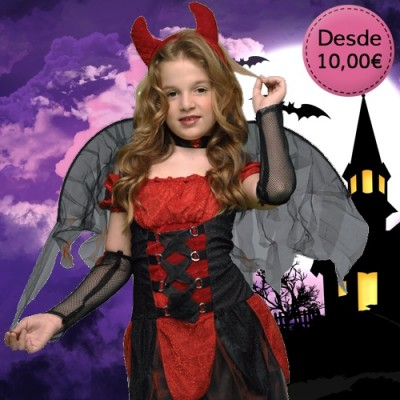 Little devil, vamp and dark creature costumes for girls