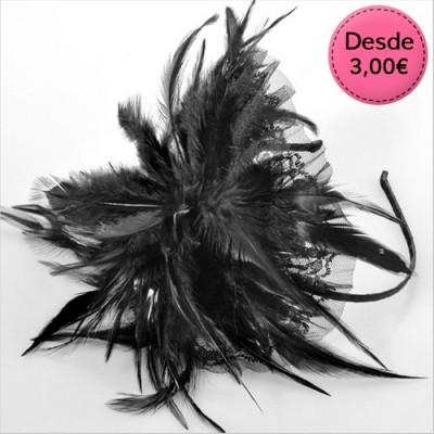 Feather hairbands & hair combs