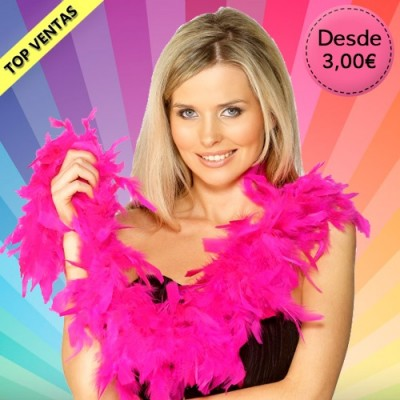 Carnival feather boas