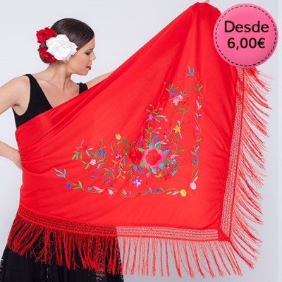 Flamenco & Spanish dance Manila shawls for woman