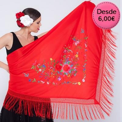 Mantón de Flamenca para Mujer - Mantón de Manila Mujer