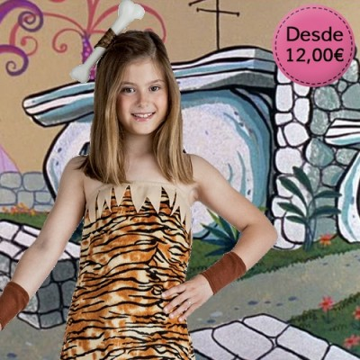 Cavewoman and troglodyte costumes for girls