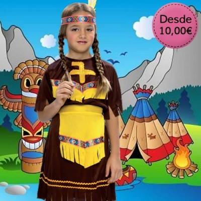 Cowgirl and native american indian costumes for girls