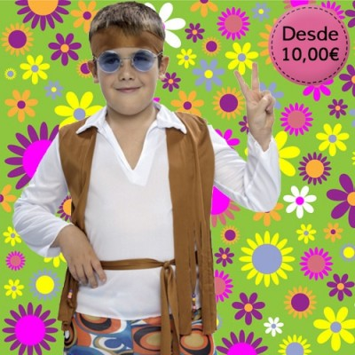 Hippie and rocker costumes for boys