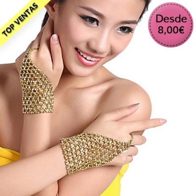 Rhinestone gloves for Bellydance