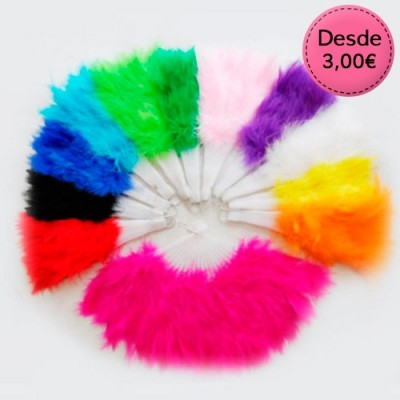 Carnival feather fans
