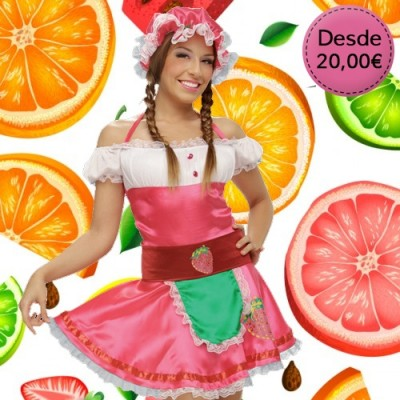 Flower, fruit and veggie costumes for woman