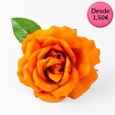 Orange Flamenco hair flowers