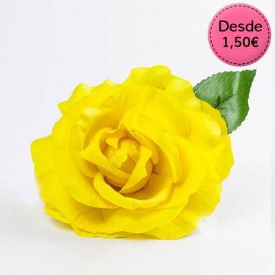 Yellow Flamenco hair flowers