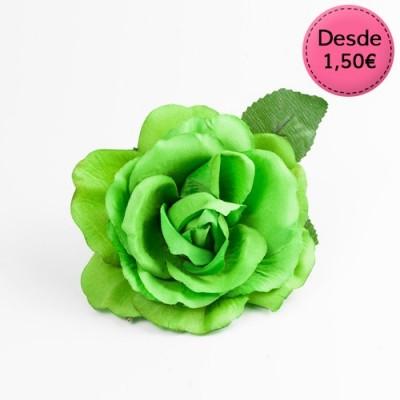 Green Flamenco hair flowers