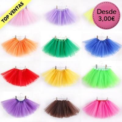 Tutús y Faldas de Tul de colores