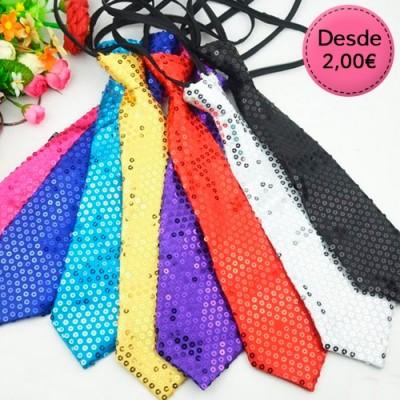 Zipper sequin ties
