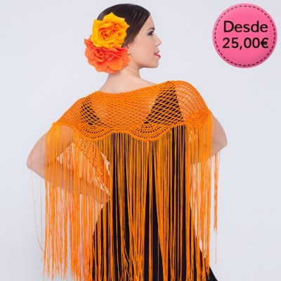 Crochet Flamenco shawls