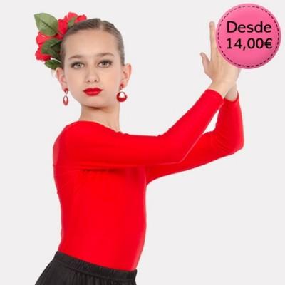 Maillots y Leotardos de Flamenca / Sevillana para Niña