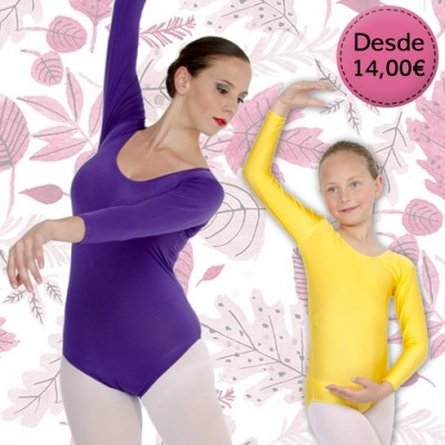 Coloured maillots & leotards