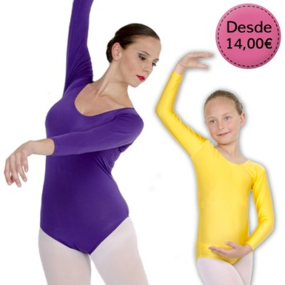 Coloured leotards and maillots
