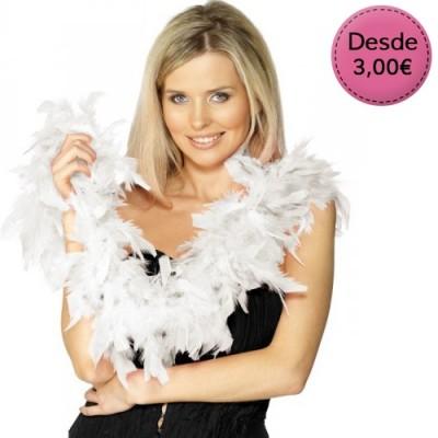 Boas de plumas blancas para Novias
