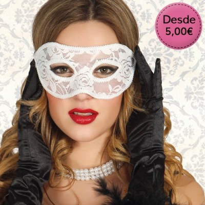White eyemasks for brides
