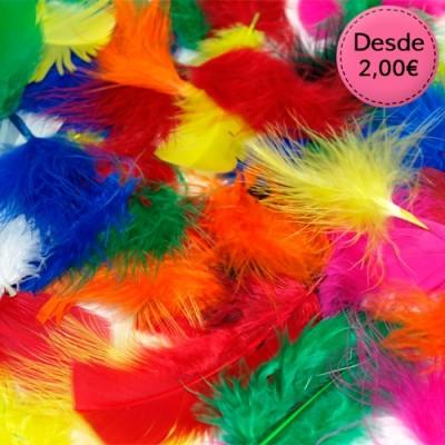 Bolsas de Plumas de colores