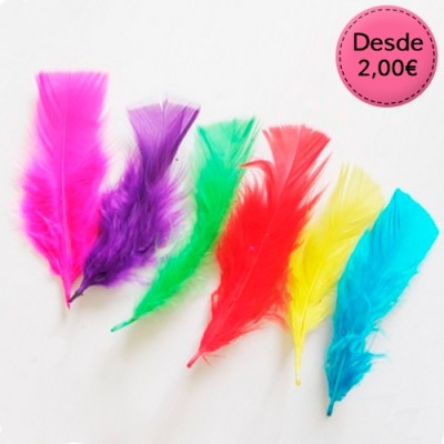 Coloured feathers sets