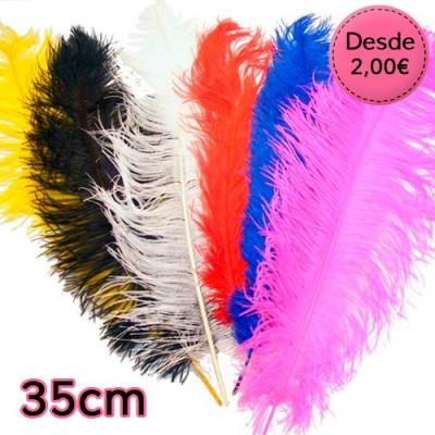 Plumas de Avestruz de 35 a 40 cm