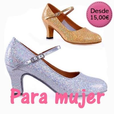 Zapatos con Purpurina para Mujer