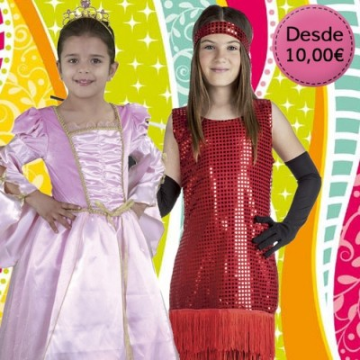 Girl costumes - 1 to 12 years old
