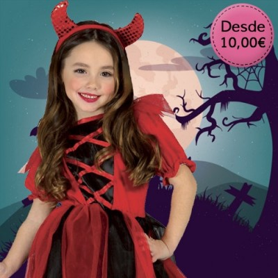 Cheap Halloween costumes for girls - from 1 to 12 years old