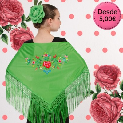 Mantón de Flamenca para Niña - Mantones Flamencos Infantil